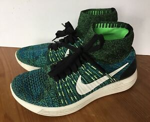 low priced 17276 07e0d Nike LunarEpic Flyknit Black Photo Blue Poison Green High ...