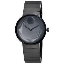 Movado Edge Black IP Stainless Steel Mens Watch 3680007