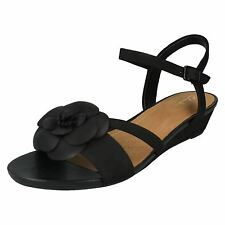 ad2b71916857 item 6 LADIES CLARKS NUBUCK LOW HEEL WEDGE FLORAL SUMMER SANDALS SHOES PARRAM  STELLA -LADIES CLARKS NUBUCK LOW HEEL WEDGE FLORAL SUMMER SANDALS SHOES  PARRAM ...