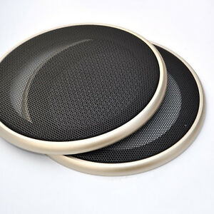 """6.5/"""" Speaker Cover Coaxial Steel Sub Mesh Grills Gold Woofer White 20CM"""