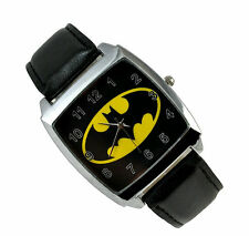 DC SUPER HEROES Black BATMAN WRIST STEEL WATCH Fashion Man Woman Boy ZBBF