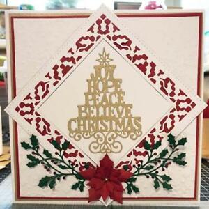 Snowflake christmas Metal Cutting Die For DIY Scrapbooking Album Paper Cards  X