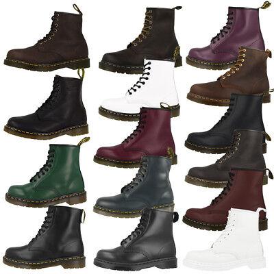 Detalles de Dr doc Martens 1460 Boots 8 agujeros botas de cuero Aztec Crazy Horse 11822200 ver título original