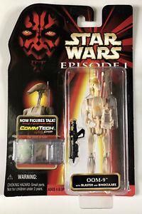 NEW-Star-Wars-Episode-I-OOM-9-with-Blaster-amp-Binoculars-Hasbro-1998-CommTech
