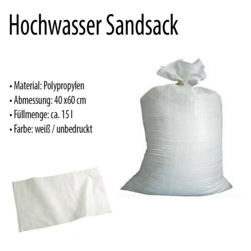 10x Hochwasser Sandsäcke 40x60cm THW Feuerwehr Hochwassersäcke Sandsack
