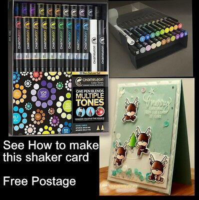 CHAMELEON Colour Tone Markers COMPLETE 52 Brush Pens Set Free Nibs MANGA Case
