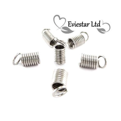 Bobine Sertissage cordon string fin connecteur 10 mm acier nickelé E54