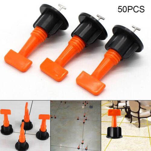 50pcs //Set Reusable Tile Leveling Positioning System Leveler T-lock Floor Tools#