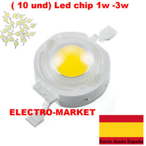 10-und-Led-chip-1w-3w-Blanco-frio-Blanco-calido-3-2-3-6v-100-120Lm