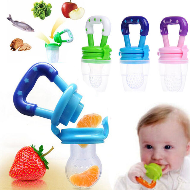 AM/_ Simple Silicone Baby Toddler Fruit Food Feeder Teether Pacifier Feeding Tool