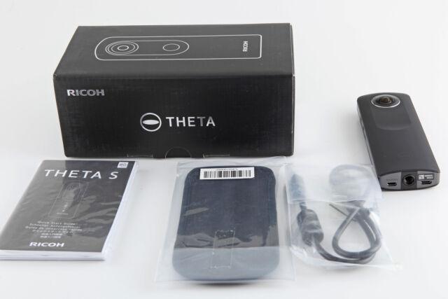 Ricoh THETA S 360° Vollsphärenkamera Full-HD-Video 8GB lichtstarkes Objektiv