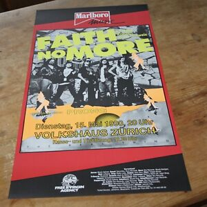FAITH-NO-MORE-prong-Orginal-Swiss-Concert-Poster-1990-ZURICH