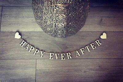 Happy Ever After Segno Parete Caratteristica Wedding Decor Vintage Shabby Chic Segno Di Legno-mostra Il Titolo Originale