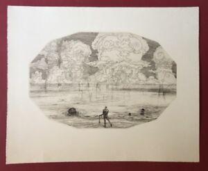 Wenzel agosto hablik, uomo al mare, acquaforte dal SCONTO, 1915
