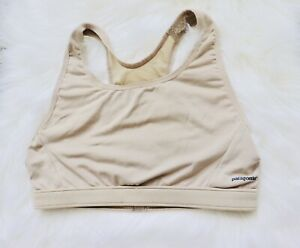 2 Patagonia Capilene Desert Tan Sport Top Sports Bra Womens Size Medium A//B NEW