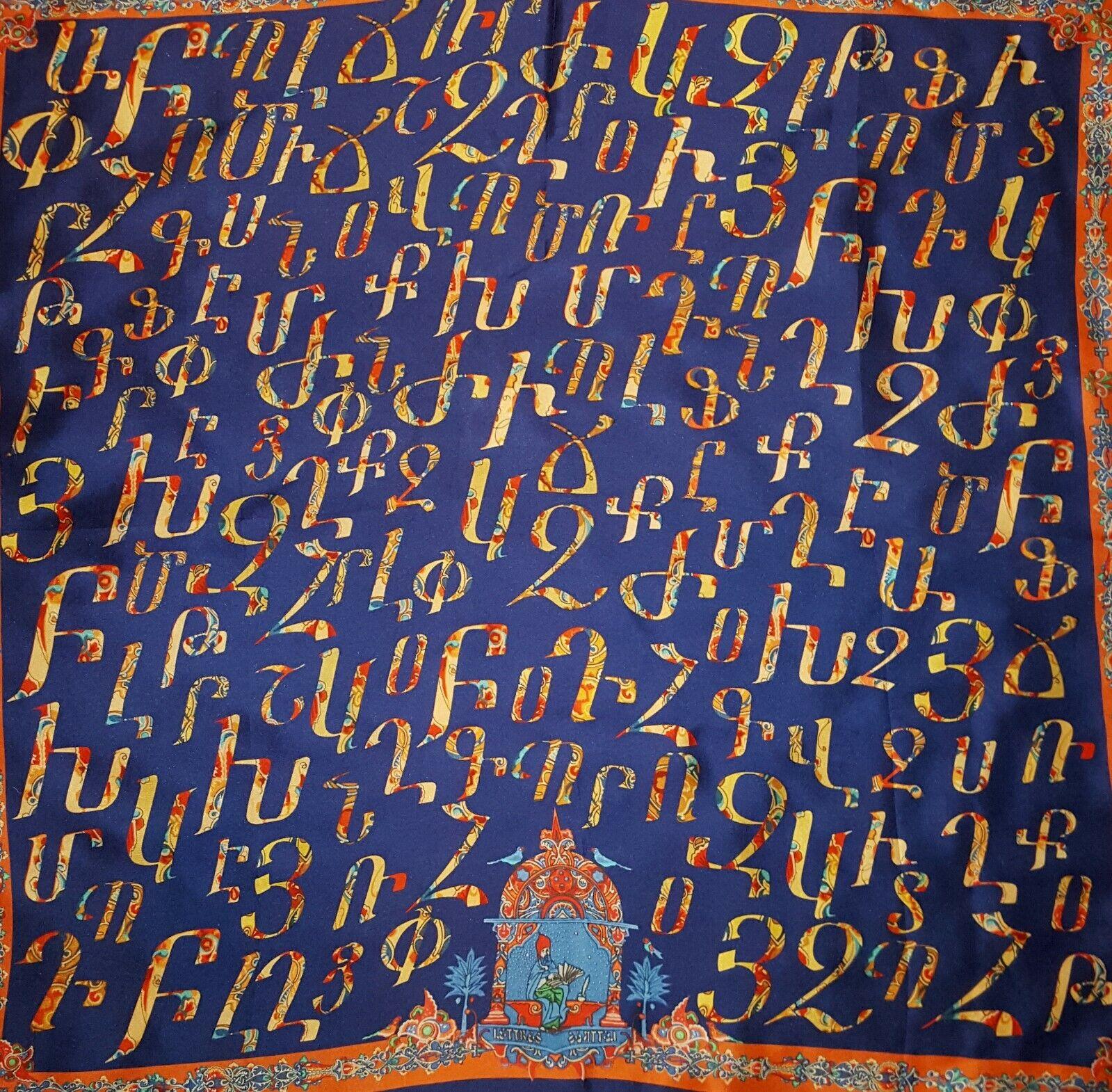 Hand Painted Silk Scarf Armenian Handmade Batik Gift for Her Armenia