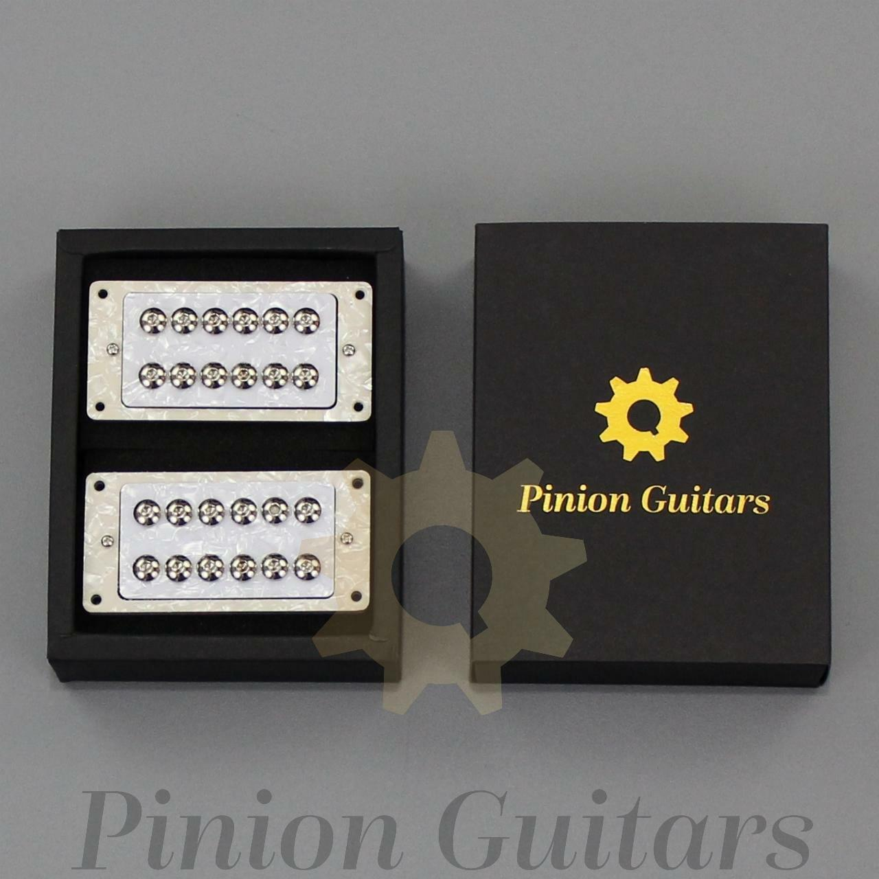 Pinion Guitars High Output Alnico Guitar Humbucker Set, HA2-WP, Fast Free Ship.