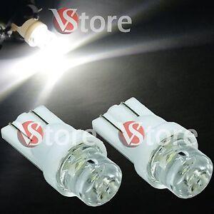 2-Lampade-LED-T10-CONCAVE-BIANCO-Lampadine-Luci-Per-Targa-e-Fari-Posizione-W5