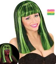 Florentina Neon Perücke grün NEU - Karneval Fasching Perücke Haare