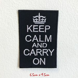 Keep-Calm-And-Transporter-sur-Badge-Brode-Repasser-Patch-a-Coudre-1531