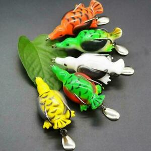 Silicone-Fishing-Lure-Bait-Life-like-Duck-Spoon-Lures-Hook-Baits-Tackle-U8S7