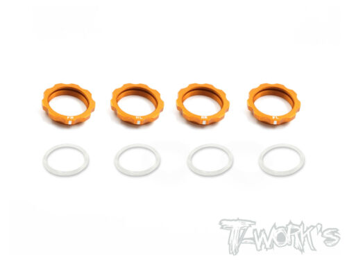 Shock Adjustable Nut With Mark  Orange Xray T4//Yokomo BD7/'16// BD8 7075-T6 Alum