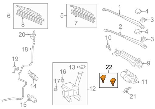 For Toyota Genuine Windshield Washer Nozzle Front 8538152280