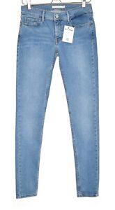 Damen-Levis-SUPER-SKINNY-710-hellblau-Mid-Rise-stretch-Jeans-Gr-12-w29-l32