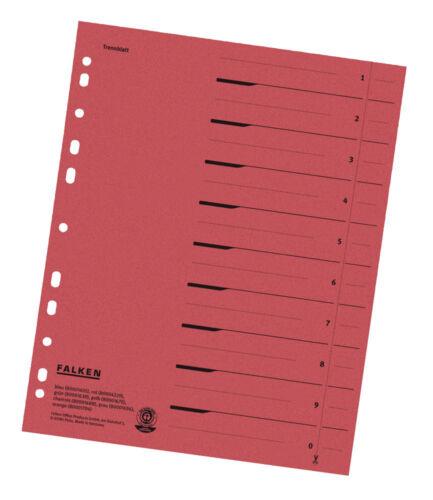 Trennblätter rot Register Einleger Karton für A4 Ordner 24x30 ab 0,20€//Stk #
