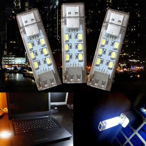Creative Mini Mobile Power USB LED Lamp Camping Computer Night Gadget Lighting