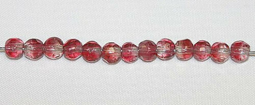 Lamp Glass Beads Hand Crafted Two-Tone 50 Pieces 8-9 mm Faceted