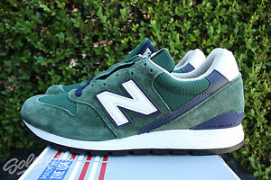 NEW BALANCE 996 SZ 7.5 HERITAGE MADE IN USA DARK GREEN NAVY WHITE M996CSL