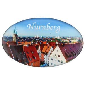 Foto Magnete Nürnberg Oval Fotomagnet Deutschland Germany Burg Alstadt Franken