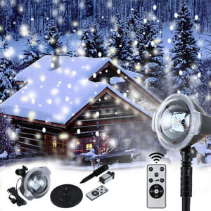 LED Snow Fall Light Outdoor Laser Projector Lamp Fairy ...