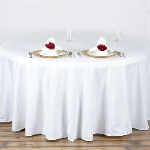 10 Pack 108 in. Polyester Seamless TableclothWeddingNEW