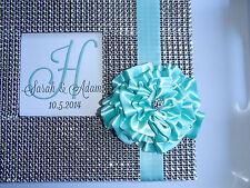 Bling Flower Guest Book Set - Rhinestone Wedding Guestbook Sign Pen Monogram