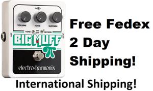 New-Electro-Harmonix-EHX-Big-Muff-Pi-w-Tone-Wicker-Guitar-Effects-Pedal
