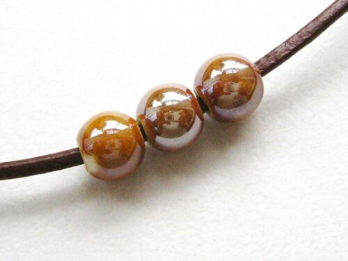 Porcelaine Perles Boule 8 mm 10 Pièce sélecteur de couleurs serajosy Céramique Perles