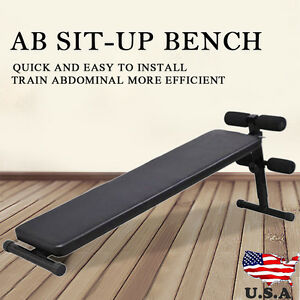 Folding Ab Sit Up Bench Decline Home Gym Crunch Fitness Exercise Adjustable
