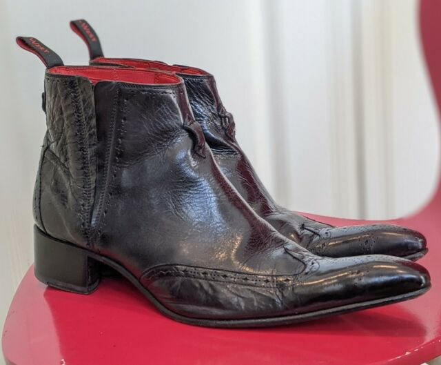 Jeffery West Rochester Chelsea Boot Black Brogue Size 10 Sergio