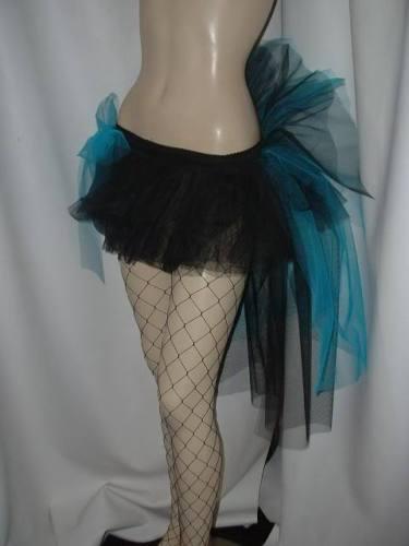 Ladies Tutu bustle Tulle Fairy Burlesque White Black Pink All Colours size 18-30