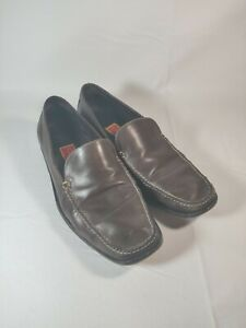 Cole-Haan-City-Men-039-s-Brown-Leather-Slip-On-Loafers-Size-9-Made-in-Brazil