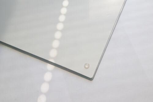 Glasschneidebrett Herdabdeckplatte Ceranfeld Universal 52x40 cm Weiß
