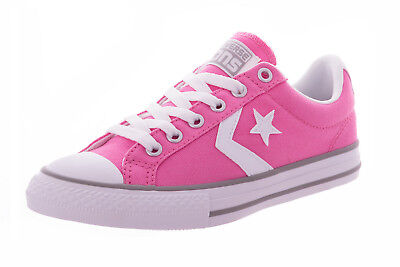 Converse Infant Kids Junior Girls Chuck Taylor Star Player Trainers Shoes - Pink | eBay