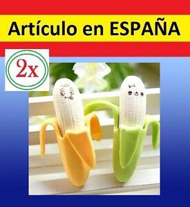 2x Gomas de borrar con forma d PLATANO banana originales divertidas regalo niños