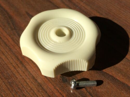 Westfalia Louvre Window knob in cream with fitting bolt for T2 Bay 1968-79 C9513