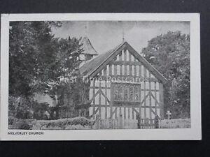 Image is loading Shropshire-MELVERLEY-CHURCH-Old-Postcard f639b75d0c9