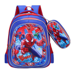 Spiderman Backpack 3D Printed Travel School Rucksack Boys Teens School Backpack