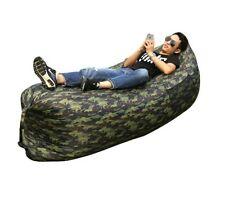 Outdoor Inflatable Lazy Sofa Portable Sleeping Bag Folding Nylon Recliner Beach
