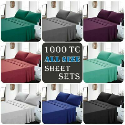 Ultra Soft 4ps Flat Fitted Sheet Set, Queen Sofa Bed Fitted Sheets